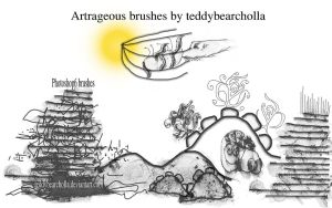 Artrageous brushes by teddybearcholla