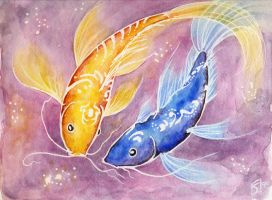 Yellow and Blue Fish by shadrad