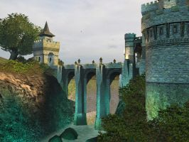Fantasy castle background 7 by indigodeep