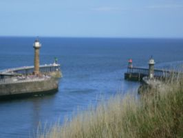 Whitby Harbour Mouth by ahdser