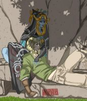 link x midna relaxing by rinoaneko
