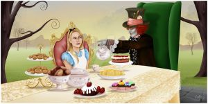 Alice and Hatter: Commission by madmoiselleclau
