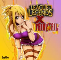 Fairy tail X league of legends: lucy's outfit by zephixe1