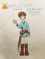 (VT) Jordan Minecraft Villager Outfit/Ref. Sheet by FallenShadow95