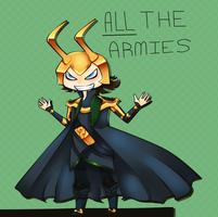 ALL THE ARMIES. by Nepeta-Chan