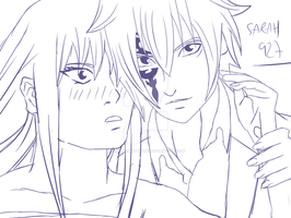 Sketch Erza and Jellal Love  by Sarah927