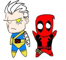 Cable and Deadpool by Cyber-Kun