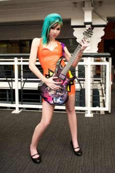 Rockin' out at comic con by bexybeatdown
