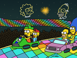 Simpsons Racing at Rainbow Road by DJgames