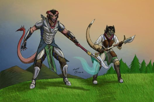 Eltaren - Master and Apprentice - Colored by Faullyn