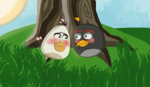 Angry Birds- Matilda and Bomb together by Agi6
