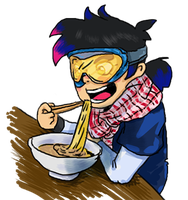 Extreme Ramen - Emoticon by rocket-child