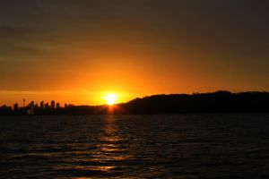 Sunset from Sydney waters by vprima14