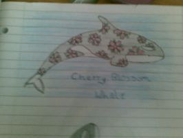 cherry blossom whale by orcalover165