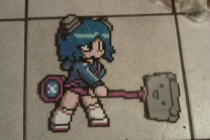 Ramona from Scott Pilgrim in Perler Beads by cracklebyte