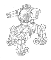 4 Legged Mech by TheMuffinKingXxX