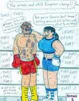 Boxing Eva vs Don Flamenco by Jose-Ramiro