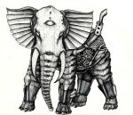 Steampunk Elephant by XantheUnwinArt