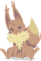 Eevee baby by JinnyMoose