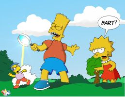 Bart and Lisa on Lilliput by Gulliver63