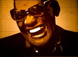 Ray Charles by Layer-tape