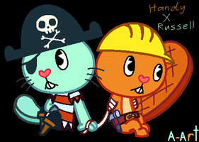 HTF Handy X Russell by HandyxRussell10