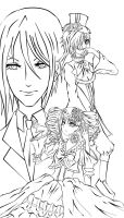 Black Butler : NOt Colored by axisrenee03