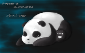 : Panda will cry : by Shirusaki