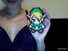 Zelda Link 8 Bit Bead Art by VampBeauty