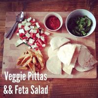 Veggie Pittas and Salad by DistortedSmile
