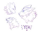 Cheap Canine Headshot Sheet - YCH - CLOSED by snowpups123