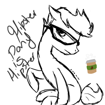 Hipster Pony is Hipster by ObsessedWithTDI