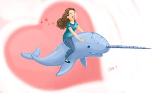 Caitlin and the Narwhal by Oniwolf12