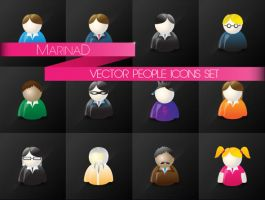 Vector People Icon Set by MarinaD
