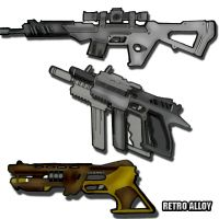 Weapons section 1 by RetroAlloyX