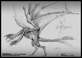 King Ghidorah -- Dragon from by cheungchungtat