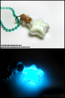 Glow Star Necklace by GrandmaThunderpants