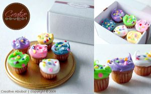Tiny Colorful Cupcakes by CreativeAbubot