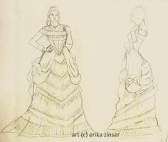 Victorian Couture Dress by glimpen