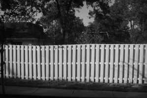 Crooked Fence by A-Scarlett-torn