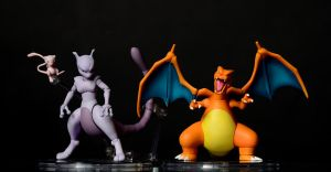 mew, Mewtwo and Charizard by BloodySickk
