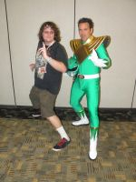Otakon 2012 - Me with Jason David Frank 1 by mugiwaraJM