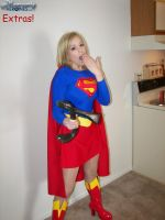 supergirl bends a steel bar 2 by ilikesuperwomens
