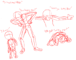 Human Studies Part 2: Situation Poses 1 by Raxore
