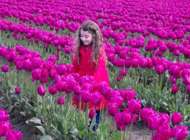 Babe Among The Tulips IV by Photos-By-Michelle