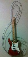 Treble Clef Guitar Stand by Fae-Fluffykins