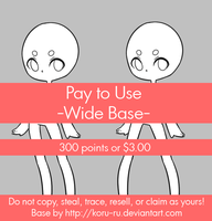 Pay To Use Base {Wide} 300 points or $3.00 by Koru-ru