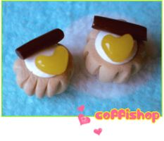 Choco heart mini pastry by coffishop