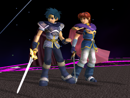 Armor-swapped Marth:Roy by Steelia