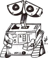 WallE sketch by nathanobrien